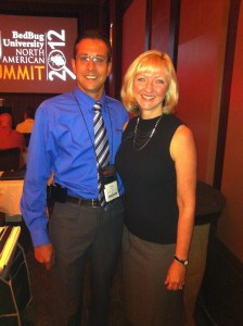 Daniel with Dini Miller at the Bed Bug Summit
